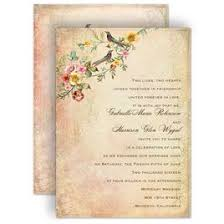 Boho Wedding Invitations Vintage Birds Invitation