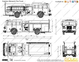 100 Fire Truck Drawing Sutphen Monarch Vector Drawing