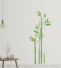 wandtattoo wohnzimmer bambus wandsticker wandaufkleber gras