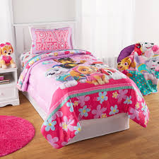 Paw Patrol Puppy Girls Pink Full forter & Sheets 5 Piece Kids