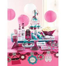 Hot Magenta Teal And Pink Along With Images Of Beauty Items Make The Zebra Boutique Party Supplies A Great Choice For Any Spa Or Sleepover
