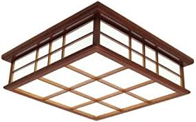 deckenleuchte mahagoni deckenle holz licht quadratisch