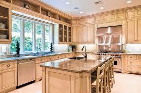 granite countertops with light cabinets trekkerboy