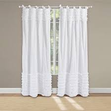 white ruffle blackout curtains at overstock com