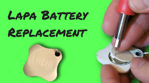 how to replace lapa key finder battery
