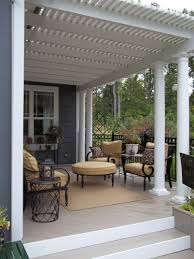 Vinyl Patio Curtains Outdoor by I Love This Aluminum Pergola With Polycarbonate Roof To Keep The