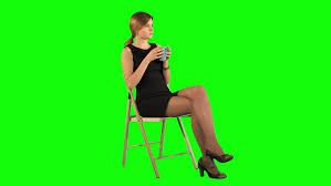 Bmcc Help Desk Contact by Beautiful Female Student Read Book On A Green Screen Chroma Key