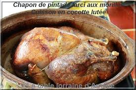 cuisine pintade cocotte la table lorraine d amelie chapon de pintade aux morilles et