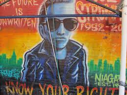 Joe Strummer Mural New York City by June 2013 One World Cinema