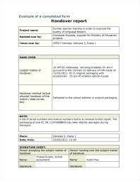 Certificate Template For Project Completion Handover Off Document