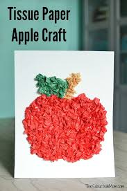 Perfect For Back To School And Fall Crafts This Tissue Paper Apple Craft Helps Kids Work