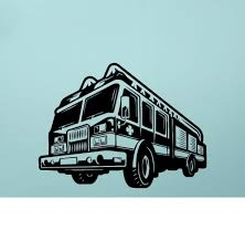 100 Fire Truck Wall Decals Decal Removable Sticker For Boys Room Decor