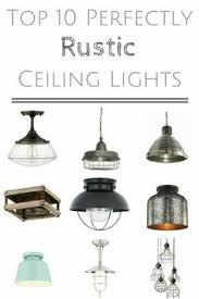 10 Perfectly Rustic Ceiling Lights