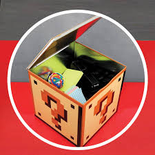 Mario Question Mark Block Lamp by Super Mario Bros Question Block Storage Tin Geekcore Co Uk
