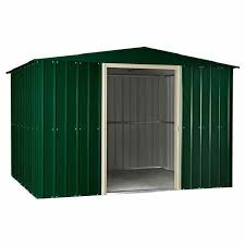 6 X 5 Apex Shed by Lotus Metal Apex Shed 6ft X 5ft Heritage Green Elbec Garden