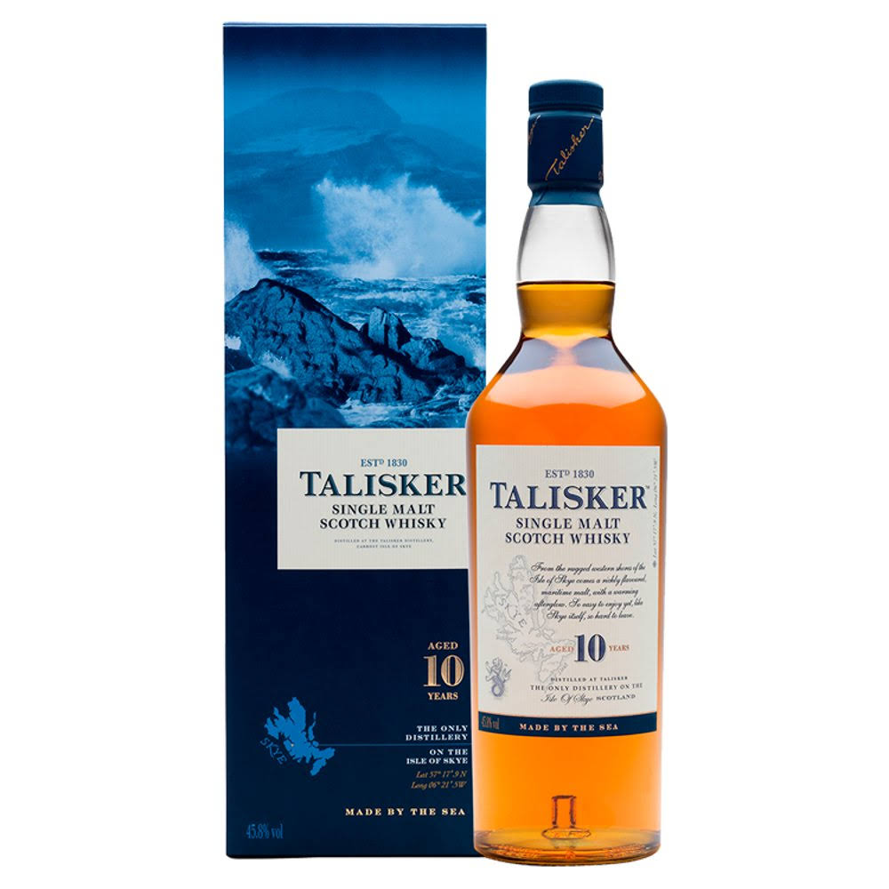 Talisker 10 Years Old Single Malt Scotch Whisky - 700ml