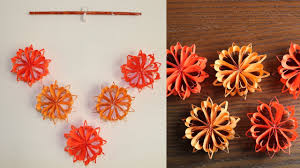 Simple Paper Flower Wall Hanging DIY Paper Craft