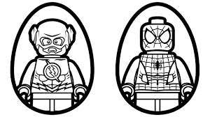 Surprise Eggs Lego Flash Vs Spiderman Coloring Pages Book Kids Fun Art