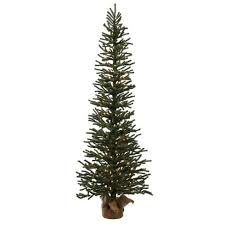 3ft Pre Lit Artificial Christmas Tree Slim Mini Pine