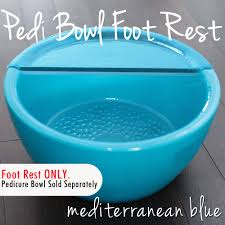 Gulfstream Plastics Pedicure Chairs by Round Pedicure Bowl Mediterranean Blue Durable Resin Material