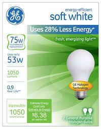 ge s energy efficient soft white halogen light bulb offers big
