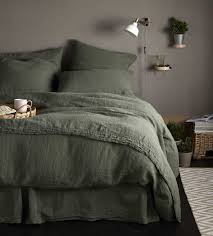 olive green 100 linen flat sheet single olive green 100
