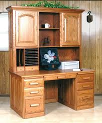 flat top computer desk with hutch