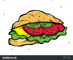Croissant Sandwich Stock Vector Royalty Free 102555608