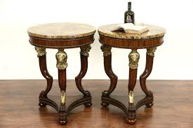 Maitland Smith Buffet Lamps by Sold Pair Of Maitland Smith Signed Marble Top Lamp Tables Brass