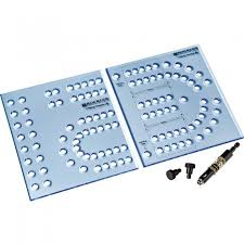 Includes 2 Piece XL Cribbage Template Self Centering Drill Bit And Indexing