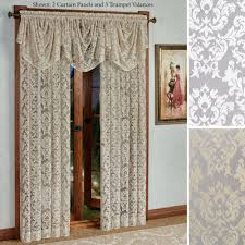Lace Curtains Panels With Attached Valance by Lace Curtains Priscilla Lace Curtains I Bought These For My