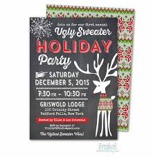 Ugly Sweater Christmas Party Invitations And Interesting Invitation Template Get The Satisfaction 30