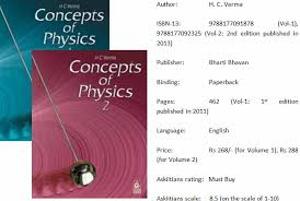 Concepts Of Physics By H C Verma For JEE