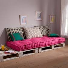 coussin pour canap palette matelas pour canapé palette canapé idées de décoration de maison