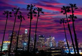 Los Angeles California Skyline At Night
