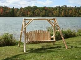 Backyard Creations 5 Cedar Log Swing and Frame at Menards