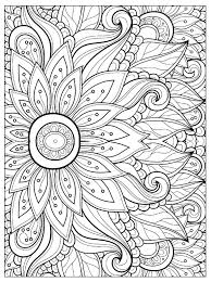 Adorable Flowers To Color For Adults Flower With Many Petals And Vegetation Coloring Pages Adult Floral