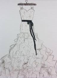 Drawn Wedding Dress Pencil Sketch 11