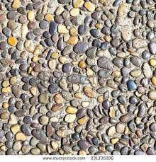 Pebble Stone Floor Tile Texture And Seamless Background