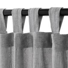 lenda 2 gardinen raffhalter grau 140x300 cm ikea