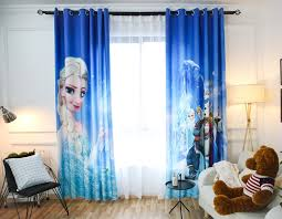 chambre la reine des neiges rideaux asymétriques bleu la reine des neiges le marché du rideau
