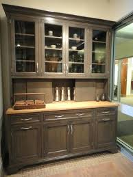 Dining Hutch In Greyer Oak Traditional Room Buffet Plans Free