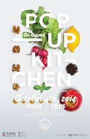 POP UP KITCHEN Food On Canvas In Typography Poster Design InspirationSimple