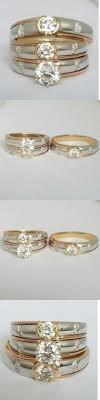 Diamonds and Gemstones 14K Yellow Gold Trio Diamond