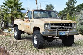 100 Chevy Stepside Truck For Sale 1975 Long Bed 4x4 Pickup Lifted Fun Rat Rod