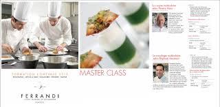 cours de cuisine ferrandi ferrandi master class moléculaires raphaël haumont