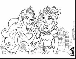 Terrific Barbie Mermaid Tale Coloring Pages Sad Fish Printable With And