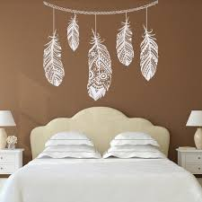 Feather Wall Decal Decor Bohemian Bedroom