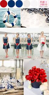 Red And Navy Nautical Wedding