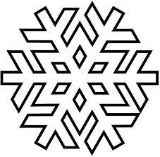 Holiday Printable Snowflake Simple Shapes Coloring Page Patterns For Kindergarten 3d Frozen Full Size